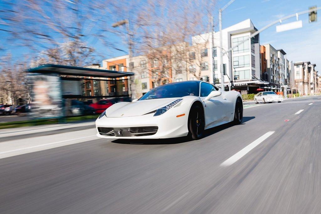Ferrari 458 Italia in Downtown San Jose, California