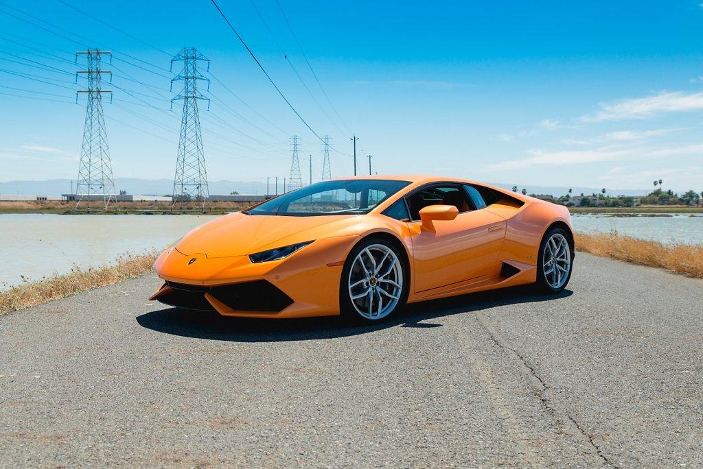 Orange Lamborghini Huracan