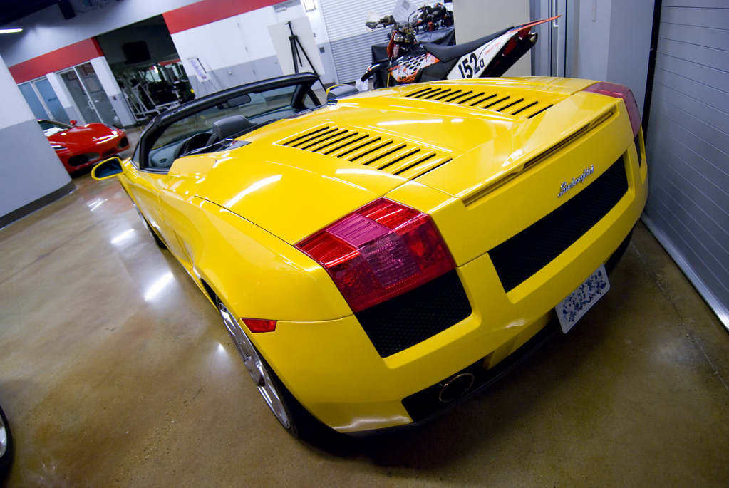 Yellow Lamborghini Gallardo - Retired