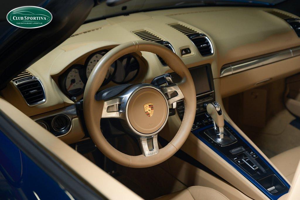 Blue Porsche Boxster S PDK